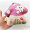 Dusty Pink Toadstool - Tooth Fairy pillow, 100% pure wool felt