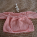 SIZE 1-2 years - knitted cardigan in light pink: girl, washable, easy care
