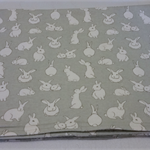 Cosy Flannelette Bunny Rug / Baby Blanket / Cot Cover / Pram Cover / Play Mat