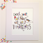 A3 Count Your Rainbows  Illustration Print.