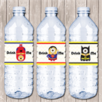 Minion Superhero Personalised Water Bottle Labels - YOU PRINT