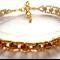 Gold Bicone bead Bracelet
