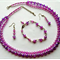Double Strand Purple AB Beads Set