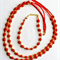 Pretty Red and Gold Necklace + Bracelet