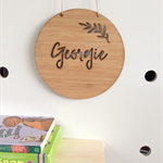 Personalised Wooden Bamboo Door / Wall hanging