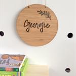 Personalised Wooden Bamboo Door / Wall hanging