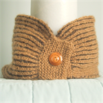 Neckwarmer Collar Scarf Camel Hair&Wool Hand Knitted Natural Colour No Dye Brown