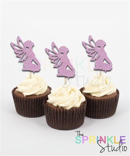 Fairy Glitter Cupcake Toppers ~ set 12 ~