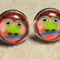 Owl Glass Dome Cabochon Stud Earrings