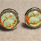 Owl In Tree Glass Dome Cabochon Stud Earrings