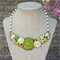 Floral Collage Necklace, Collage Bib Necklace, Field of Flowers Necklace