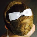 Double layer hair bun bow on antique bronze metal comb - any colour