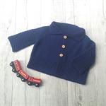 Walter Cardigan - Hand Knitted - Size 0 - 100% Australian Merino Wool