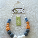 Geometric - Blue Mango silicone teething necklace