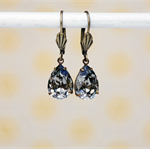 Black Diamond Swarovski Rhinestone Earrings, Swarovski Earrings, Bridesmaids Ear