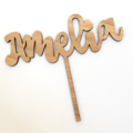 CUSTOM - Bamboo Name Cake Topper