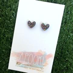 Buy 3 get 4th FREE Rainbow Glitter Acrylic Heart Earrings