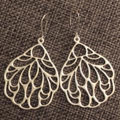 Silver Lace Wing ~ Earrings