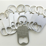 CUSTOM ENGRAVED BOTTLE OPENER KEYRING
