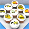 "Construction Themed Edible Cupcake Toppers - 2"" - PRE-CUT"