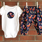 BABY CLOTHES NAVY, FOX OUTFIT SIZE 3 612 18 MONTHS