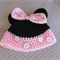 Handmade Crocheted Minnie Mouse Baby's Hat