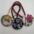 Trio 28mm Liberty fabric button hairties