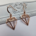 Rose Gold Zamac Charm and French Hook - all nickel free