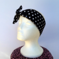 Retro Head Wrap / Scarf - Blue Daisy, rockabilly, 50's, rock n roll, pin up