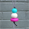 Polymer clay pendant necklace, polymer clay beads, bright necklace, FREE postage