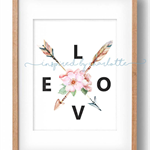 LOVE ARROWS home decor DIGITAL print wall art