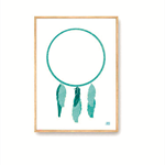 Teal Dreamer | A3 Print