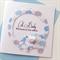 Oh Baby welcome to the world newborn boy elephants blue grey keepsake lush card