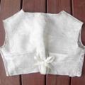 Linen & Lace Vest