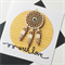 Dreamcatcher wood with love laser cut yellow friend female male him her card