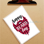 happy beard day birthday checkered beard birthday card