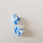 MARBLEOUS Nautical Wave Cube Studs