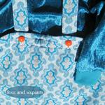 ~Retro Damask~ ROMPER Set Silver Gold SWEAT TOP Blue Velvet Velour 12-18m