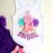 1st Birthday Cupcake Onesie First Birthday Design with Glitter Name