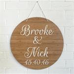 Personalised Bamboo Wedding Sign