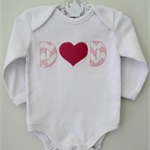 Father's Day Dad Father Heart Girl Onesie Outfit Baby Gift Present Fathers Day