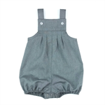 Baby Boy Charcoal Grey Vintie Overalls