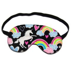 Glitter Unicorn and Rainbow Sleeping Eye Mask / Sleep Mask