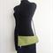 Large Soft Cross Body Handbag - Dark Blue Denim and Green