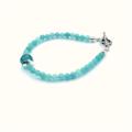 Pale Blue Gemstone and Sterling Silver Bracelet