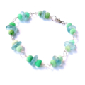 Aquamarine Chrysoprase and Sterling Silver Bracelet