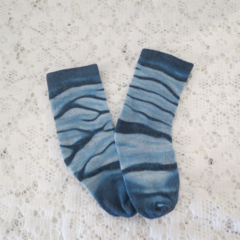 Hand Painted  Socks - Navy Blue - Size 0-12 Mths.