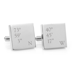 Co-ordinates - square stainless steel cufflinks - Christmas, anniversary gift