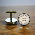 Personalised stainless steel cufflinks - Fathers Day gift for Dad, husband