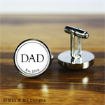 Personalised stainless steel cufflinks for Father's Day - Dad Est.